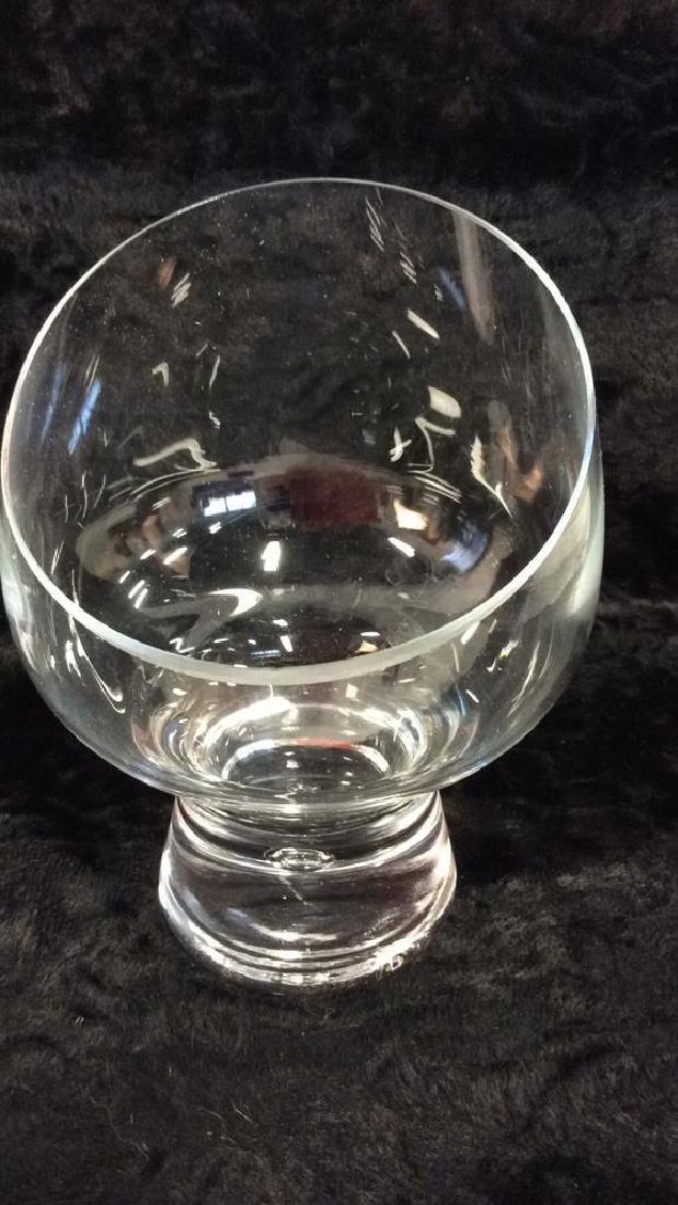 Pair Poss Vintage DANSK Glass Candleholders - 5