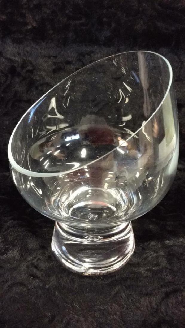 Pair Poss Vintage DANSK Glass Candleholders - 6
