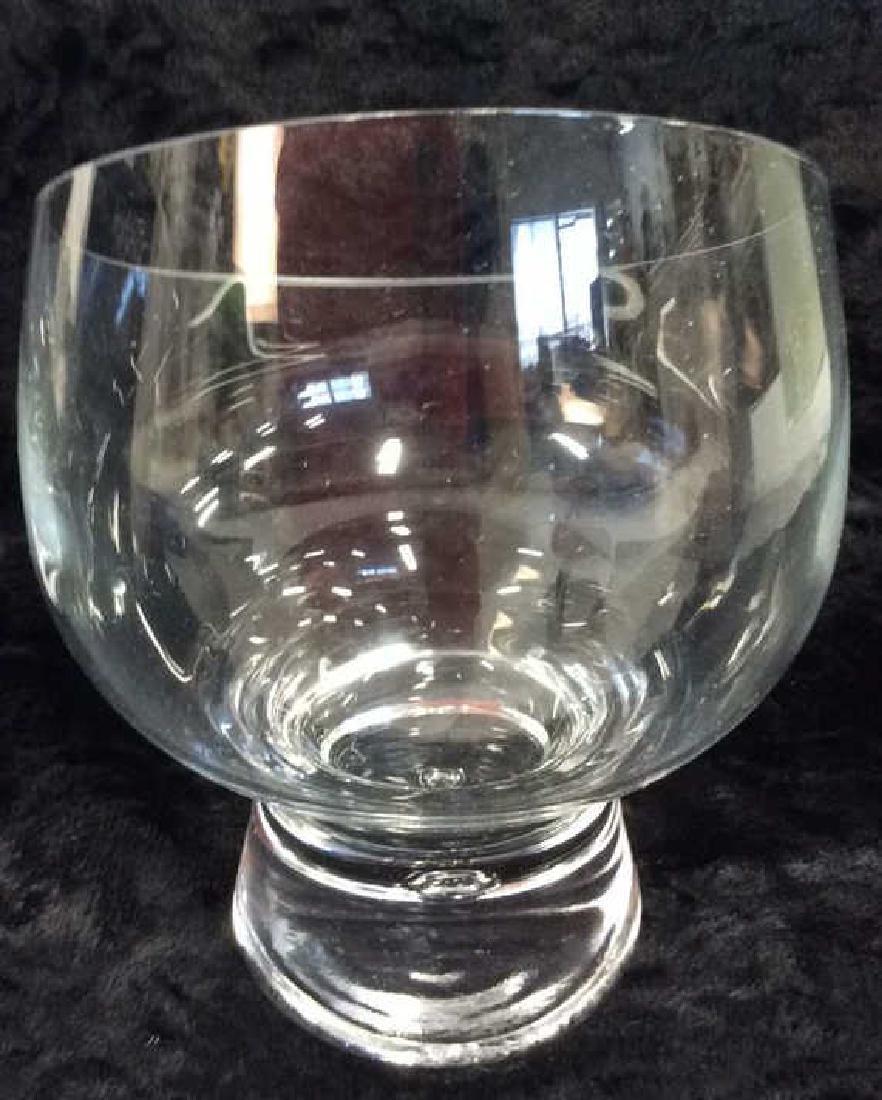 Pair Poss Vintage DANSK Glass Candleholders - 7