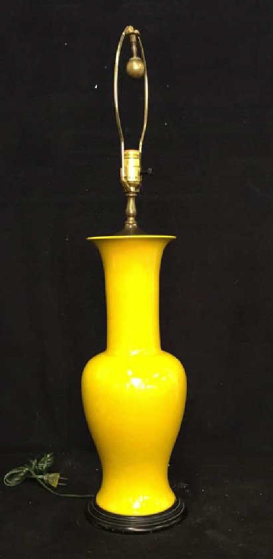 Vintage Vibrant Yellow Ceramic Lamp - 5