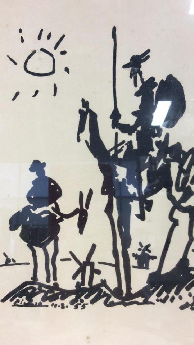Framed Don Quixote Picasso Art Print