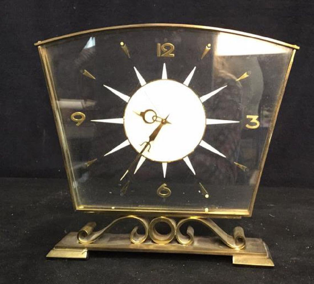 Mid Century Modern Style Sunburst Clock, swiss - 2