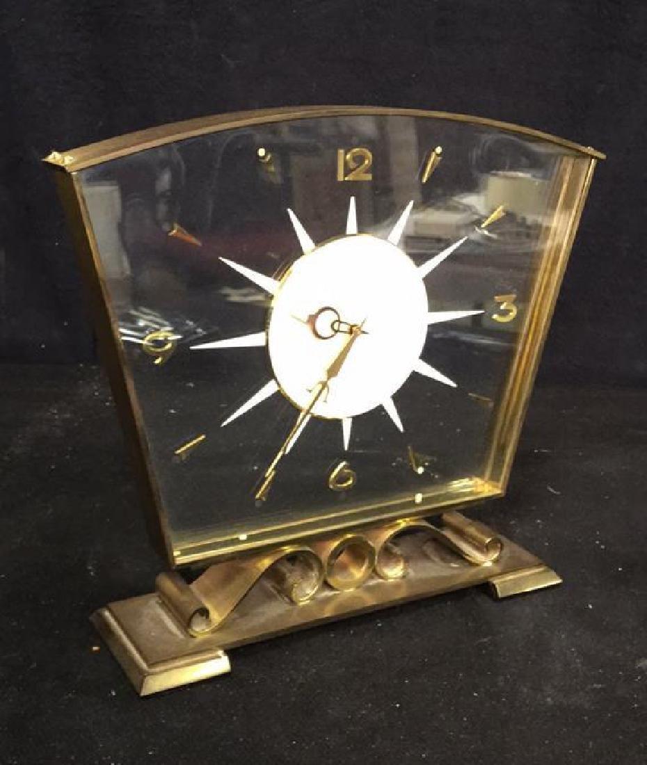 Mid Century Modern Style Sunburst Clock, swiss - 3