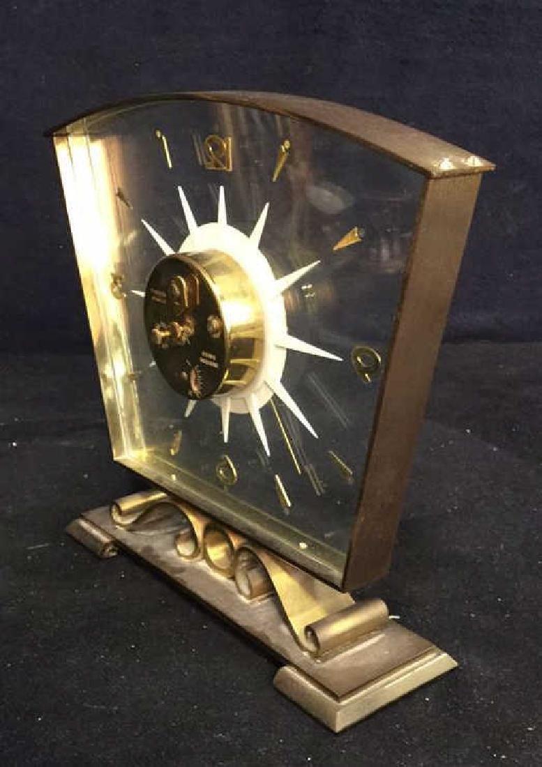 Mid Century Modern Style Sunburst Clock, swiss - 4