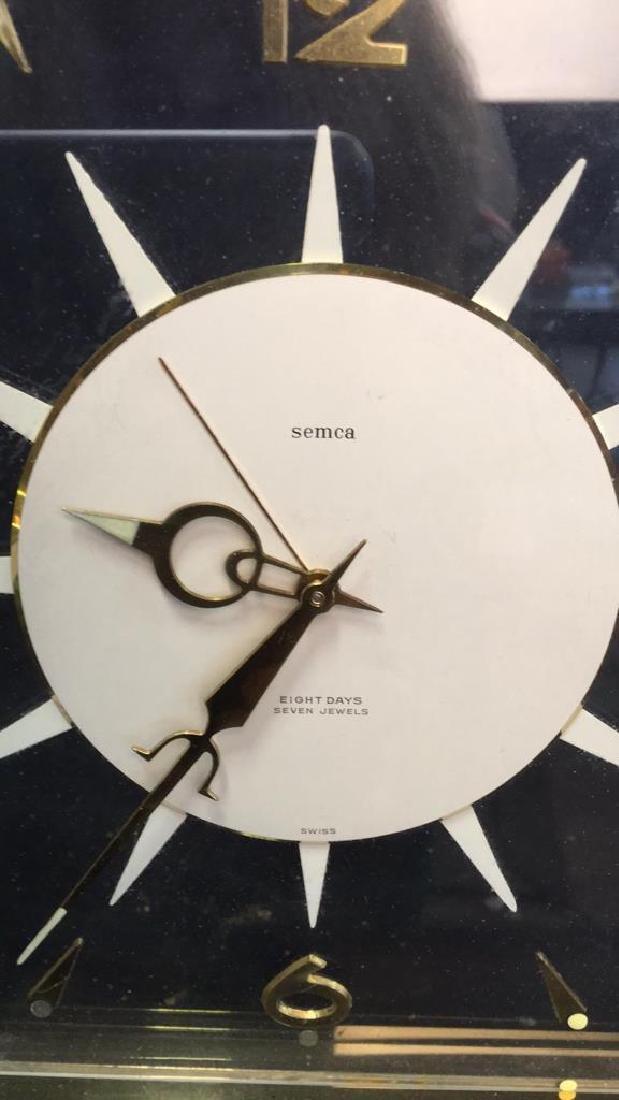 Mid Century Modern Style Sunburst Clock, swiss - 7
