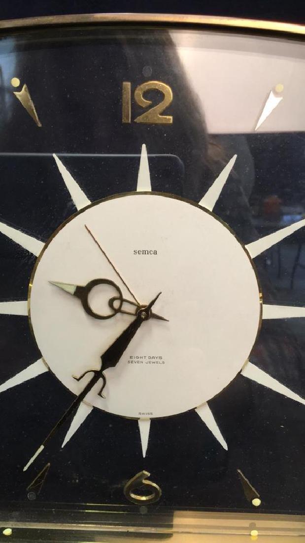Mid Century Modern Style Sunburst Clock, swiss - 8