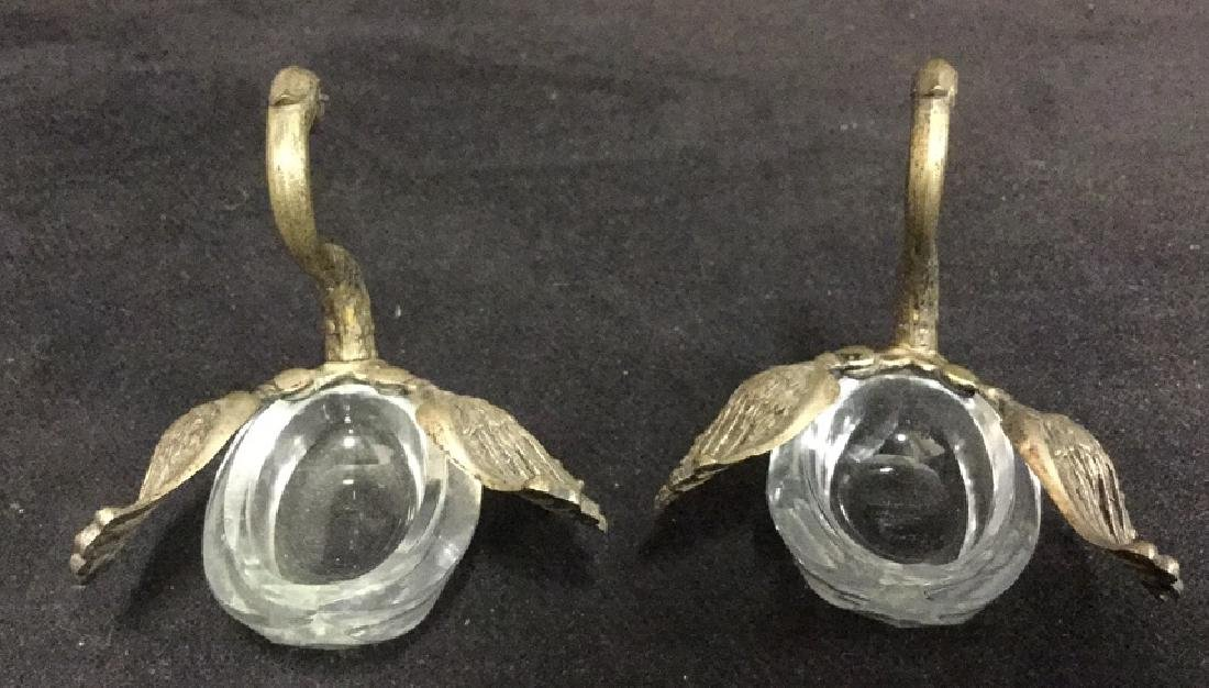 Lot 3 Swan And Duck Glass Metal Figurals - 7