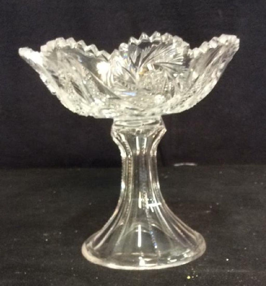 Cut Crystal Footed Pedestal Candy Dish - 5
