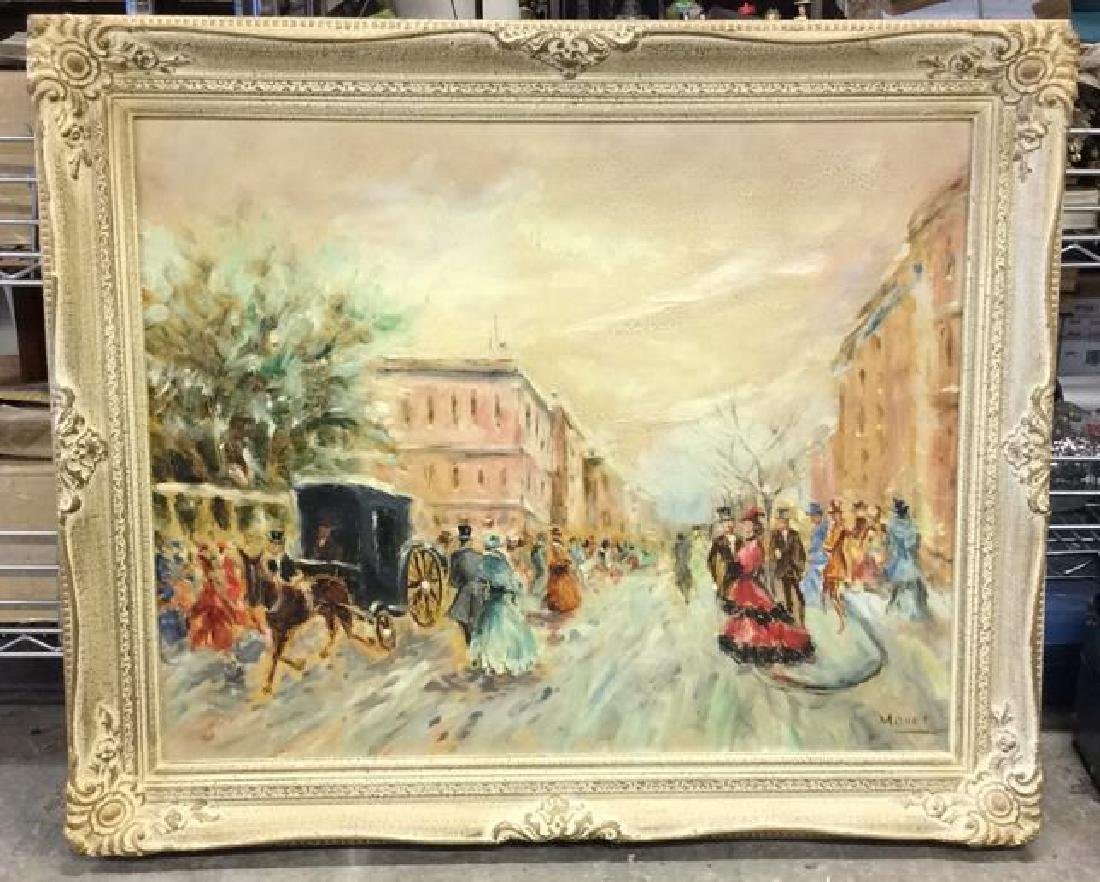 Impressionist French Style Painting on Canvas
