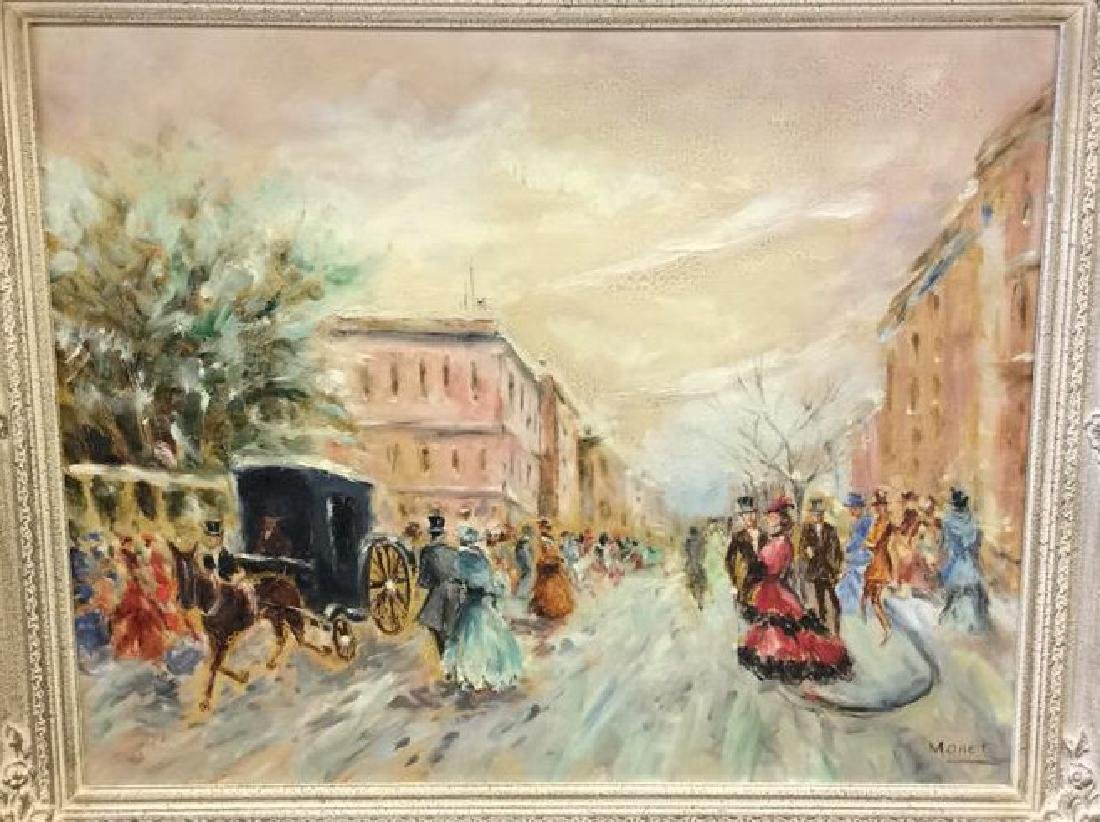 Impressionist French Style Painting on Canvas - 2