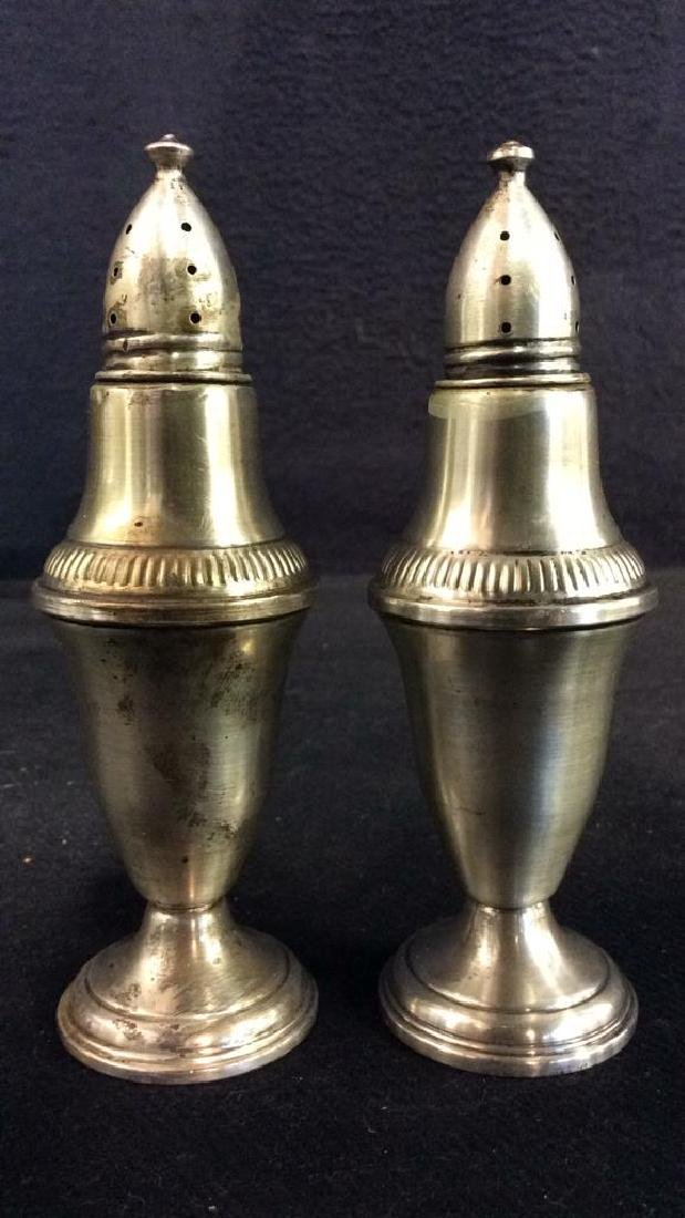 COLUMBIA Sterling Weighted Salt & Pepper Shakers