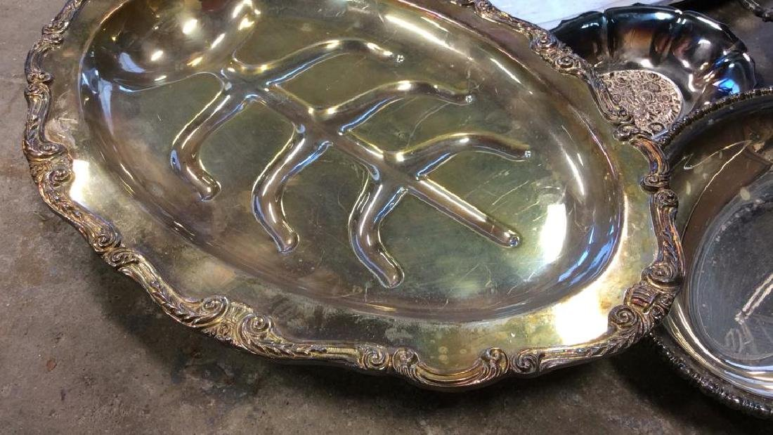 Group Lot Silver Plate Serving Dishes - 2