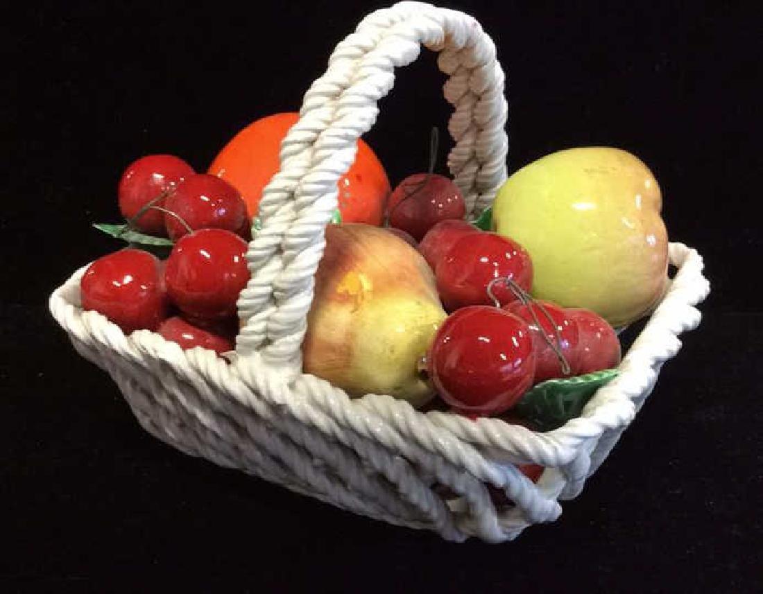 Trompe Loeuil Porcelain Fruit in Basket - 3