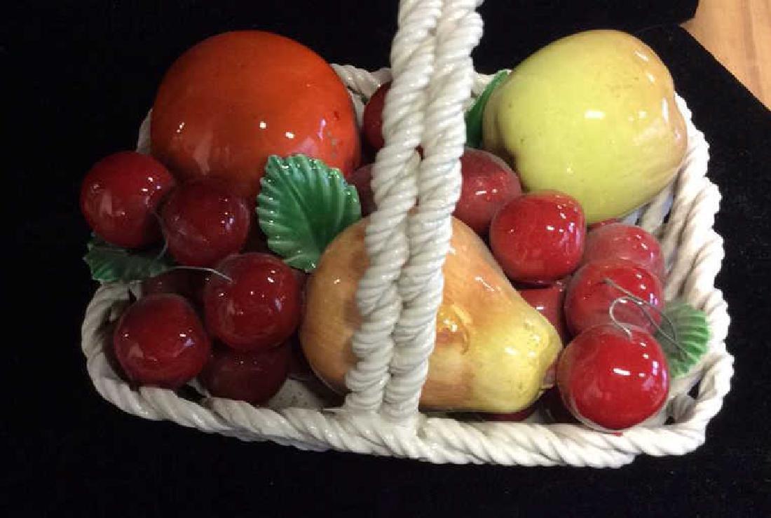 Trompe Loeuil Porcelain Fruit in Basket - 4