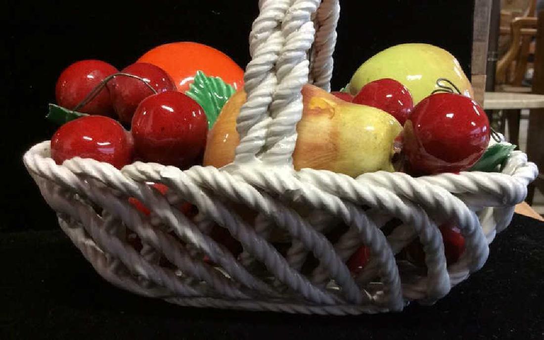 Trompe Loeuil Porcelain Fruit in Basket - 5