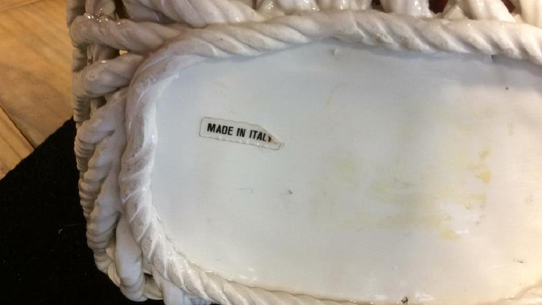 Trompe Loeuil Porcelain Fruit in Basket - 6