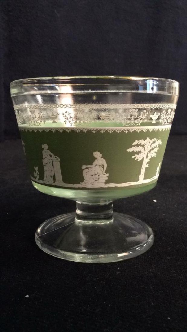 Lot 4 Glass & Wedgwood Like Dessert Cups - 4
