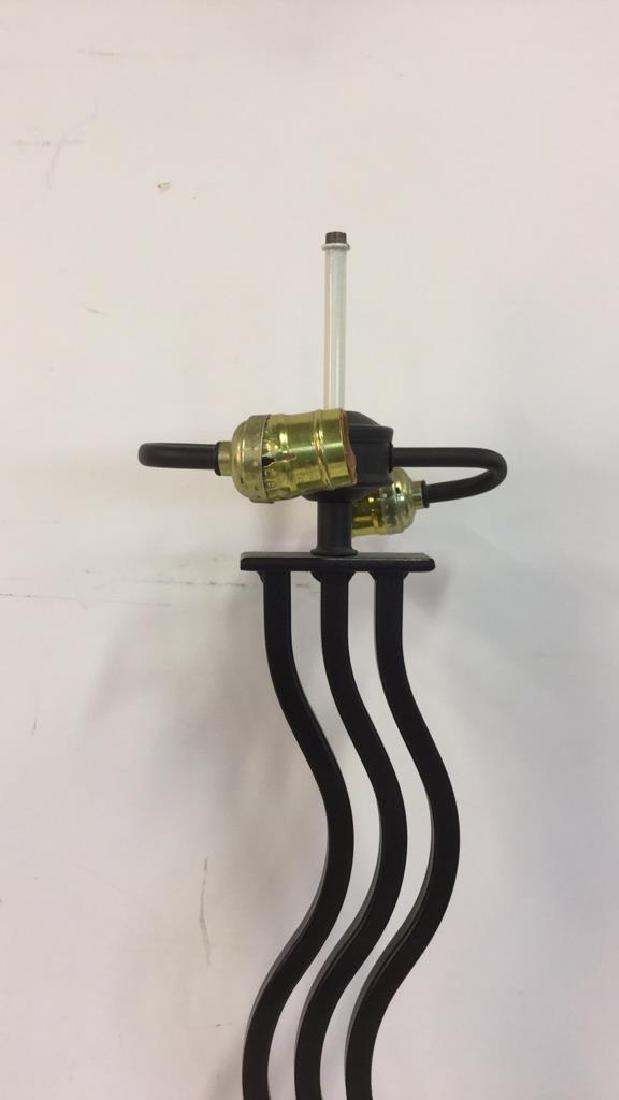 Black Toned Metal Table Lamp - 4