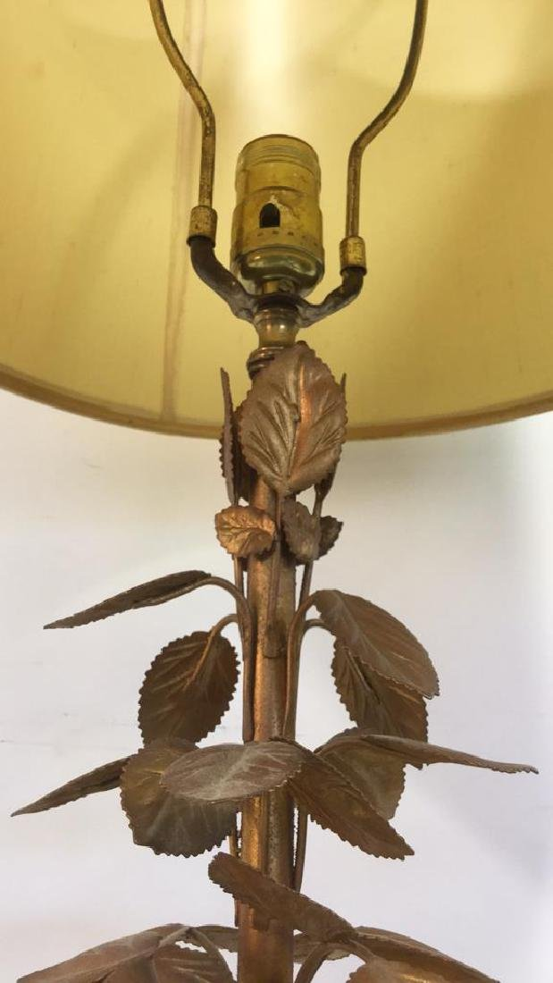 Brass Tined Painted Urn Vase Figural - 7
