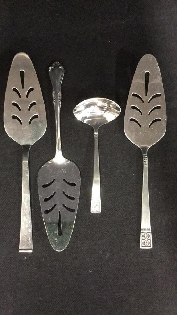 Lot 8 Mixed Serving Utensils Sterling Stainless - 10