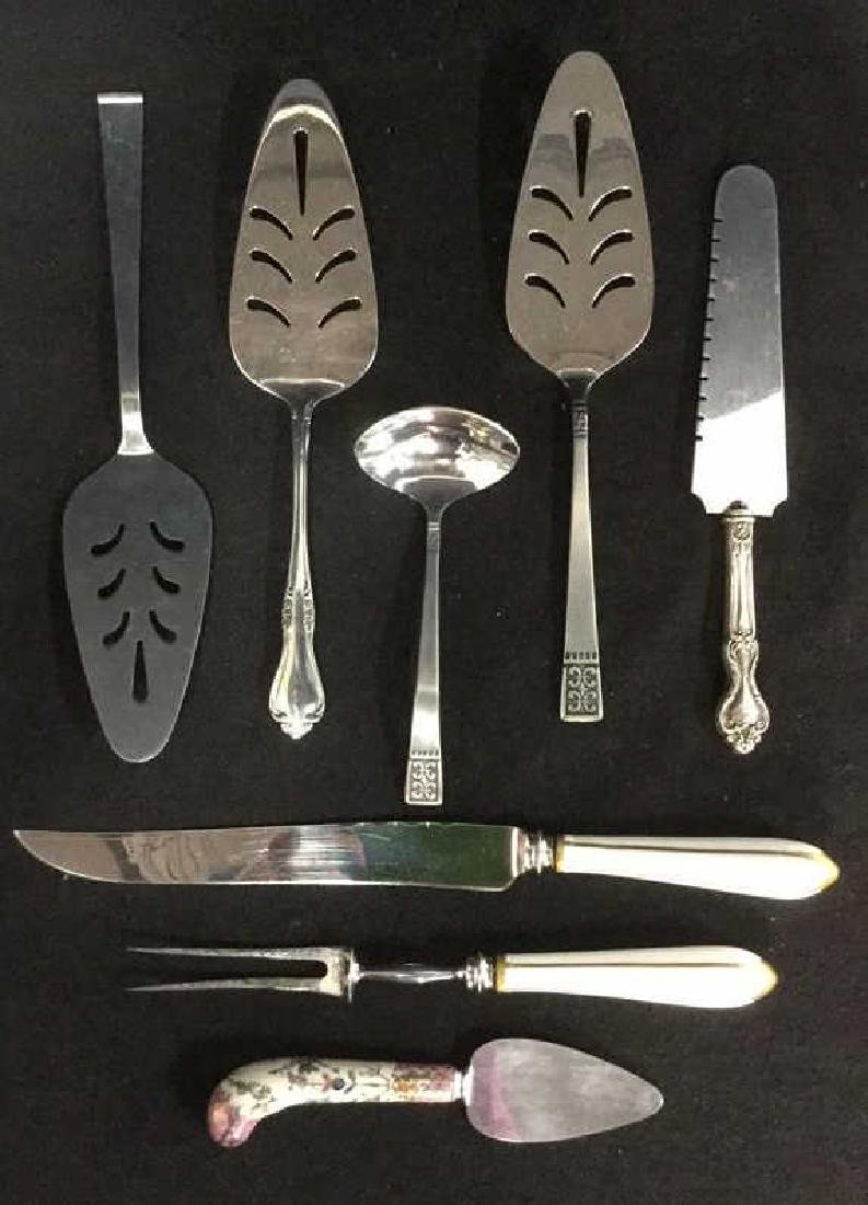 Lot 8 Mixed Serving Utensils Sterling Stainless
