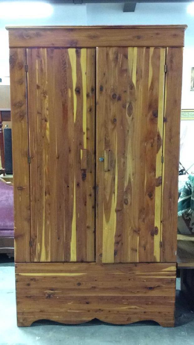 Wooden Armoire Style Cedar Closet
