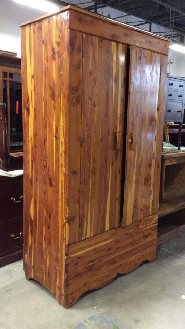 Wooden Armoire Style Cedar Closet - 2