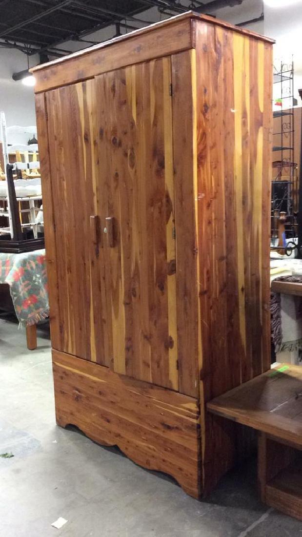 Wooden Armoire Style Cedar Closet - 3