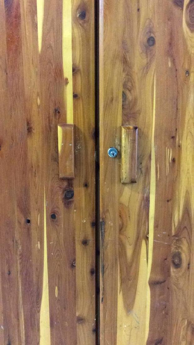 Wooden Armoire Style Cedar Closet - 4