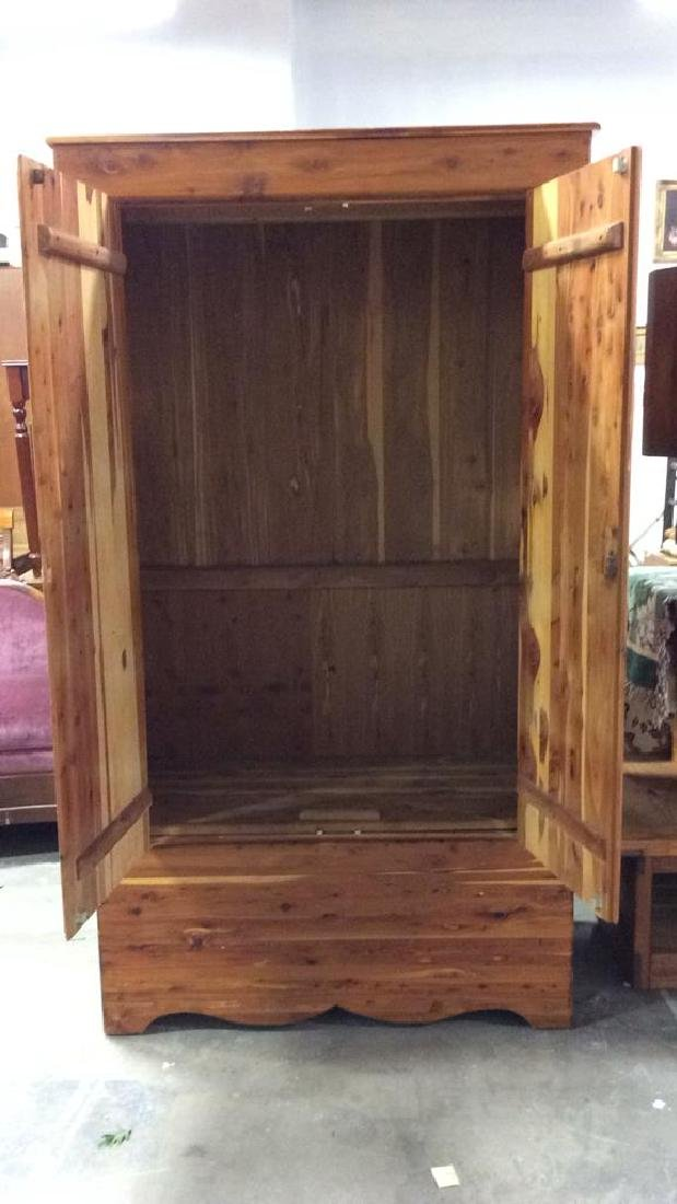 Wooden Armoire Style Cedar Closet - 5