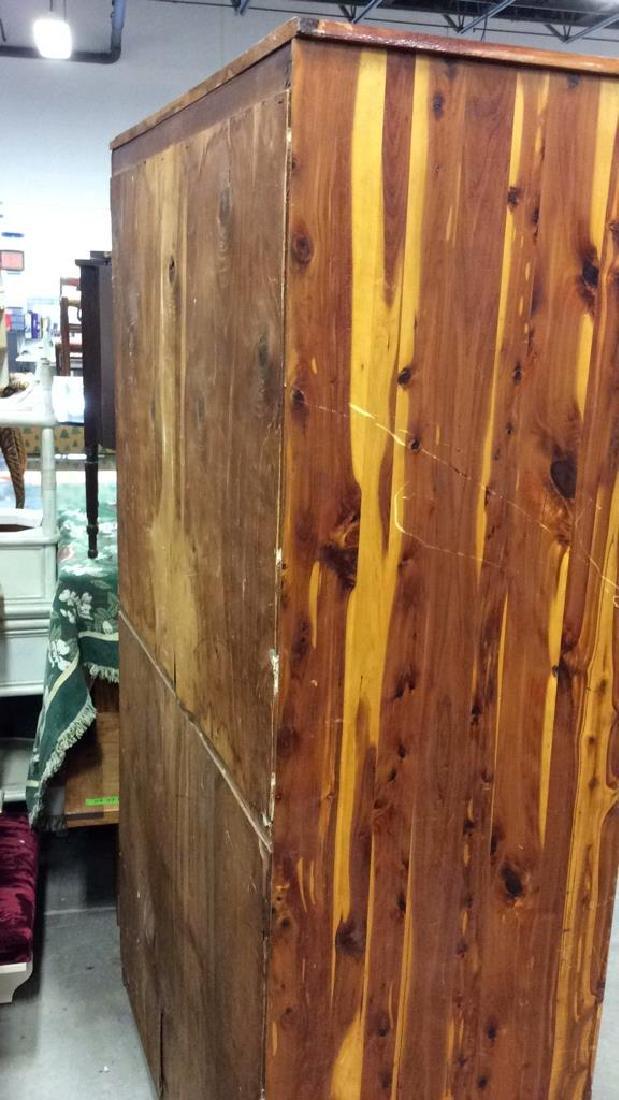 Wooden Armoire Style Cedar Closet - 7