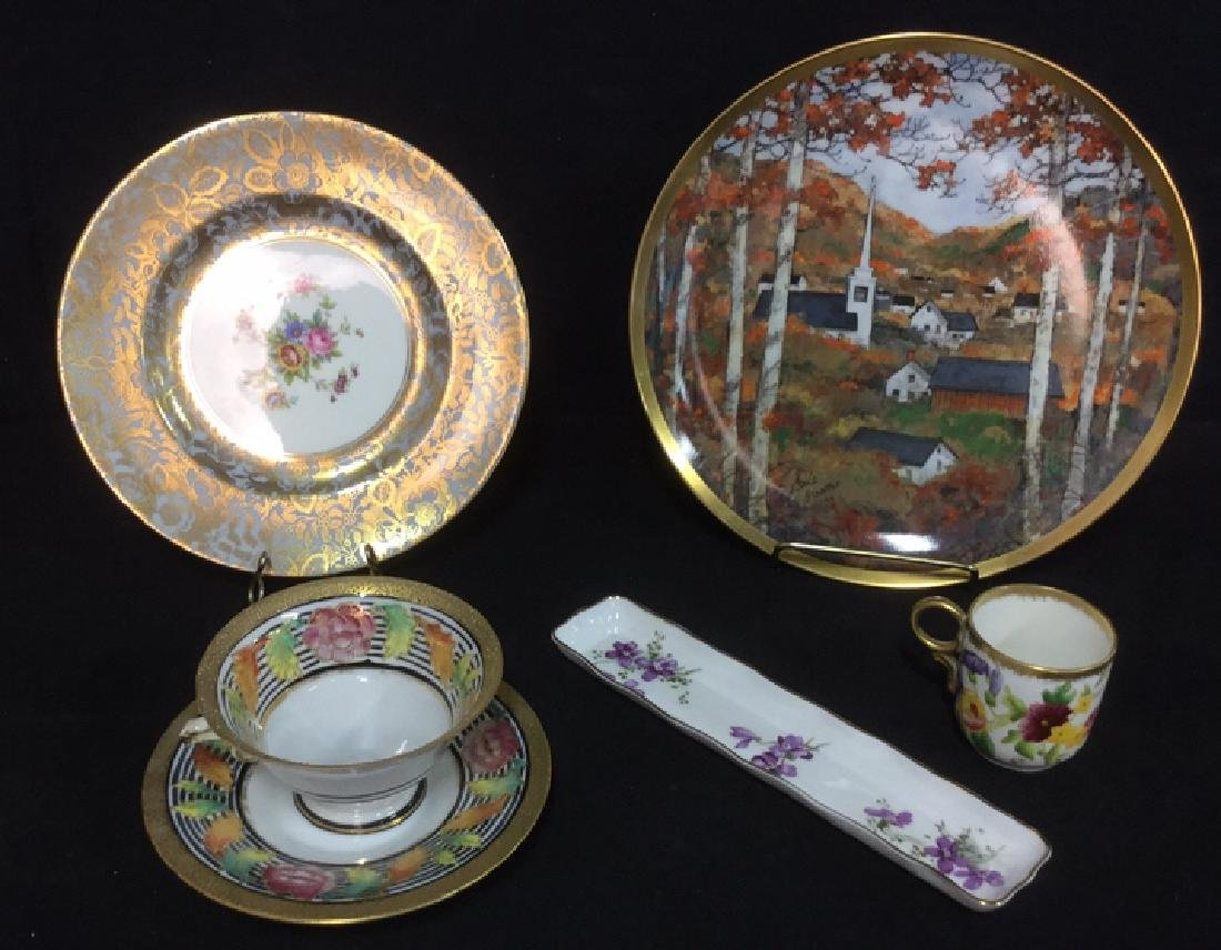 Lot 6 Mixed Bone China Porcelain Dishes And Cups