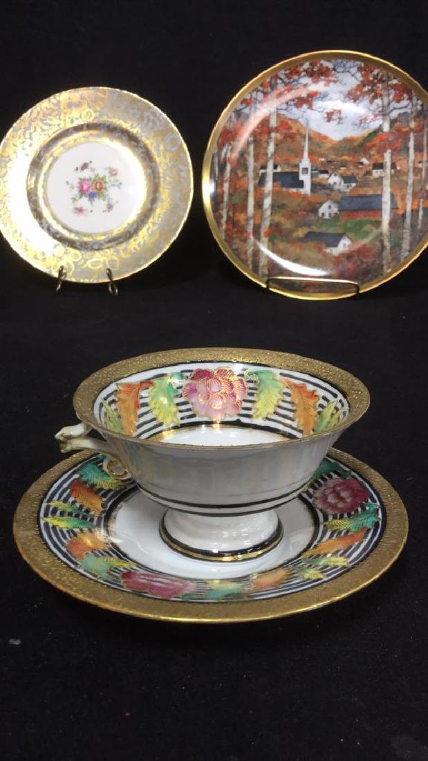 Lot 6 Mixed Bone China Porcelain Dishes And Cups - 4
