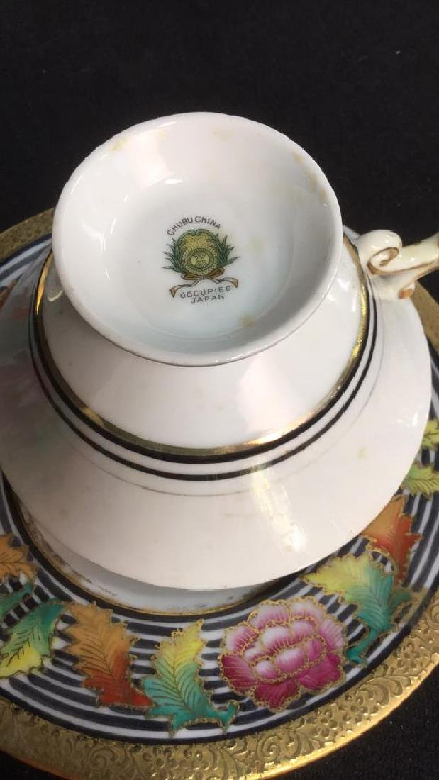 Lot 6 Mixed Bone China Porcelain Dishes And Cups - 9