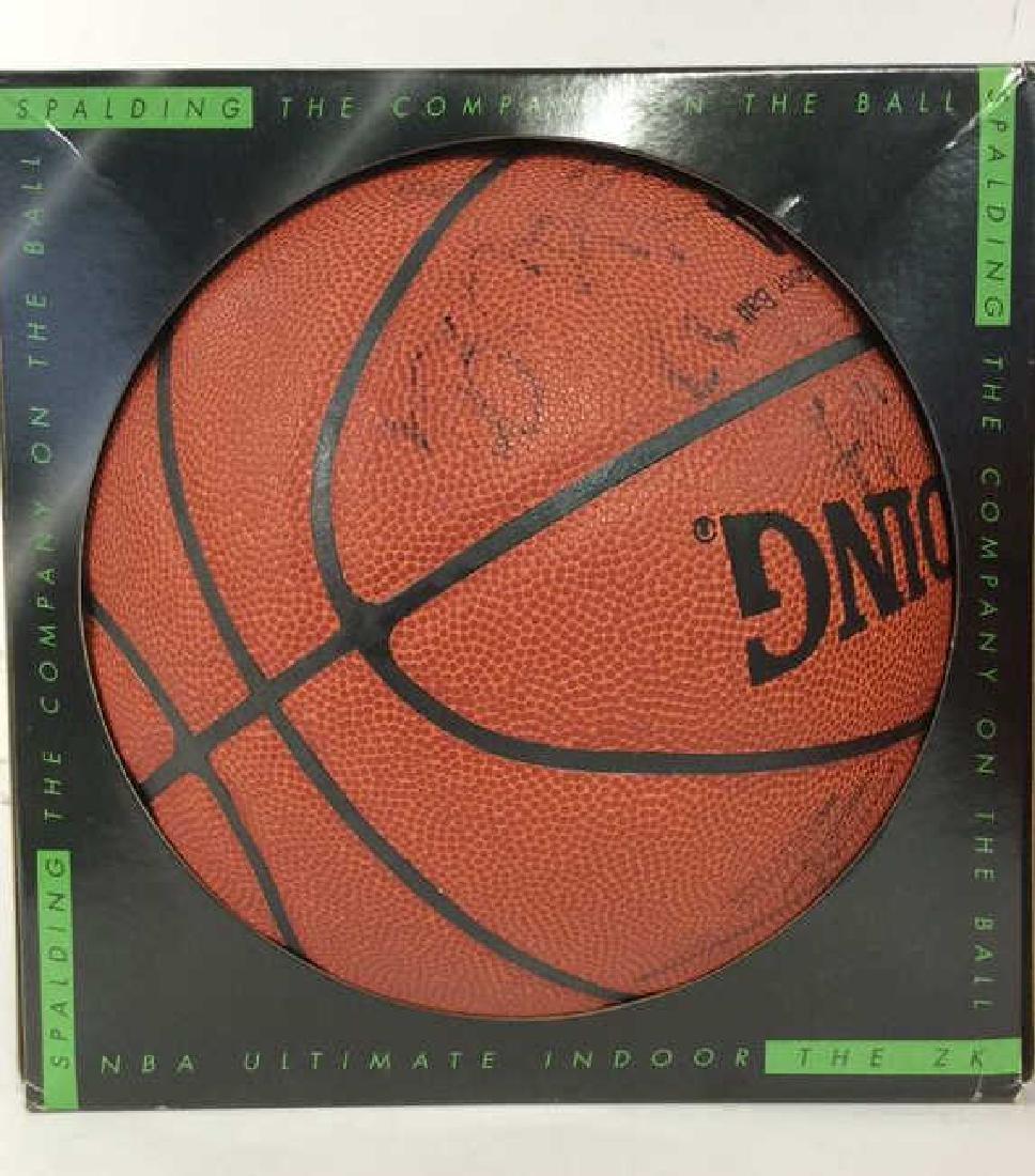 Pair Signed NBA SPALDING Basketballs - 2