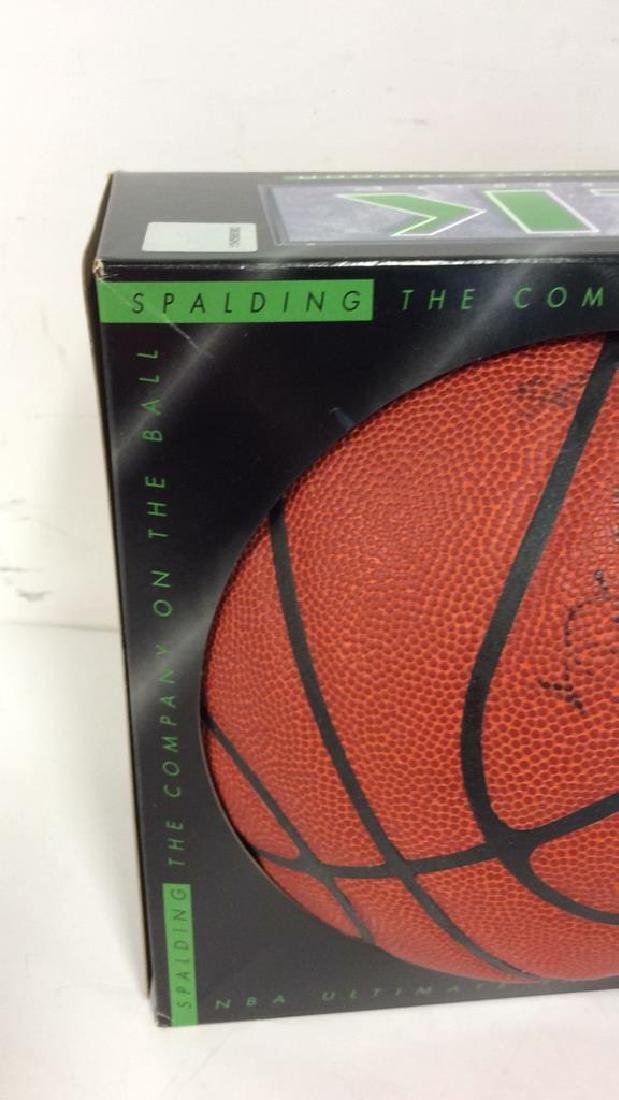 Pair Signed NBA SPALDING Basketballs - 4