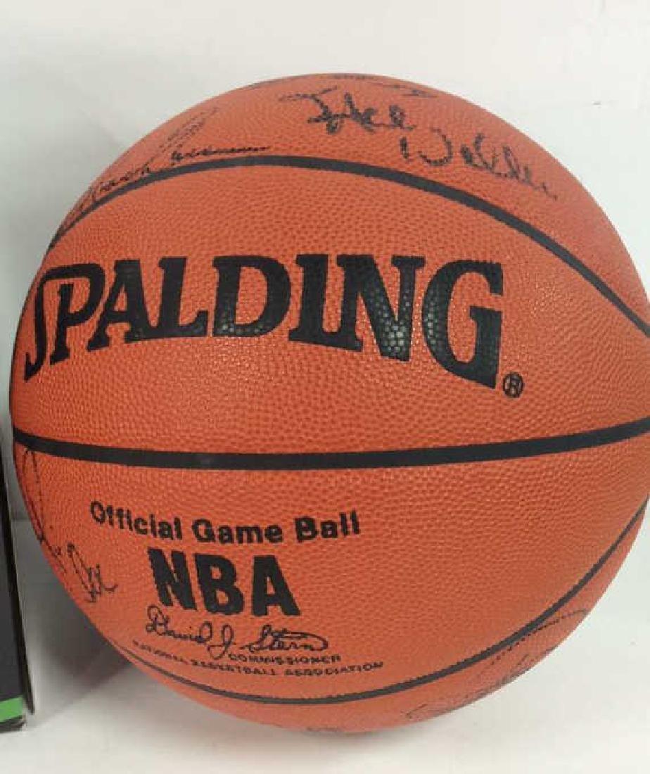Pair Signed NBA SPALDING Basketballs - 5