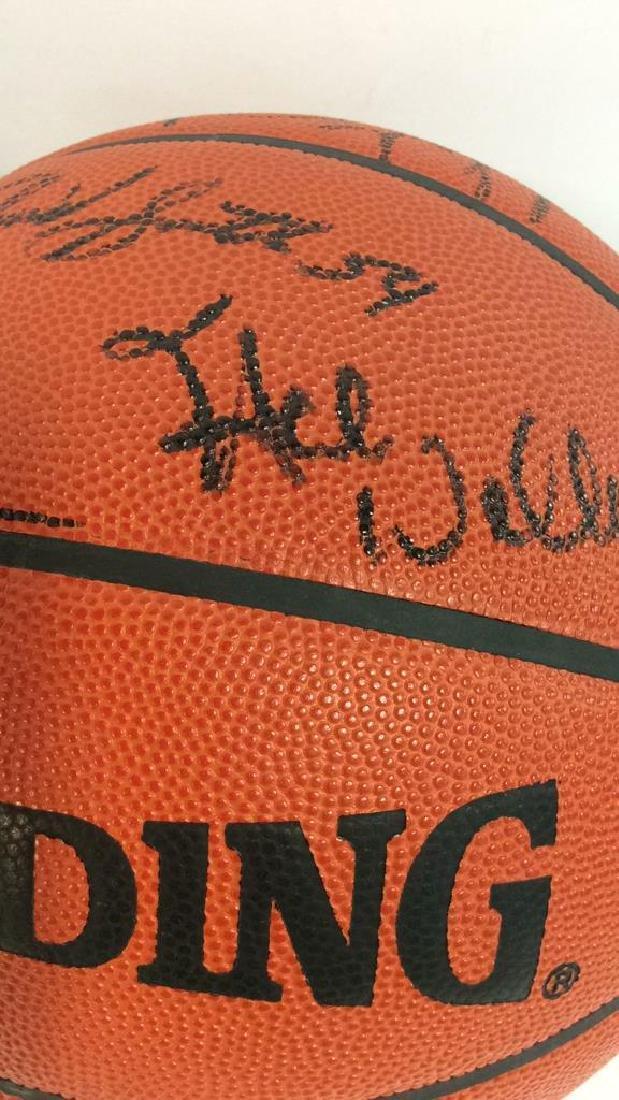 Pair Signed NBA SPALDING Basketballs - 6