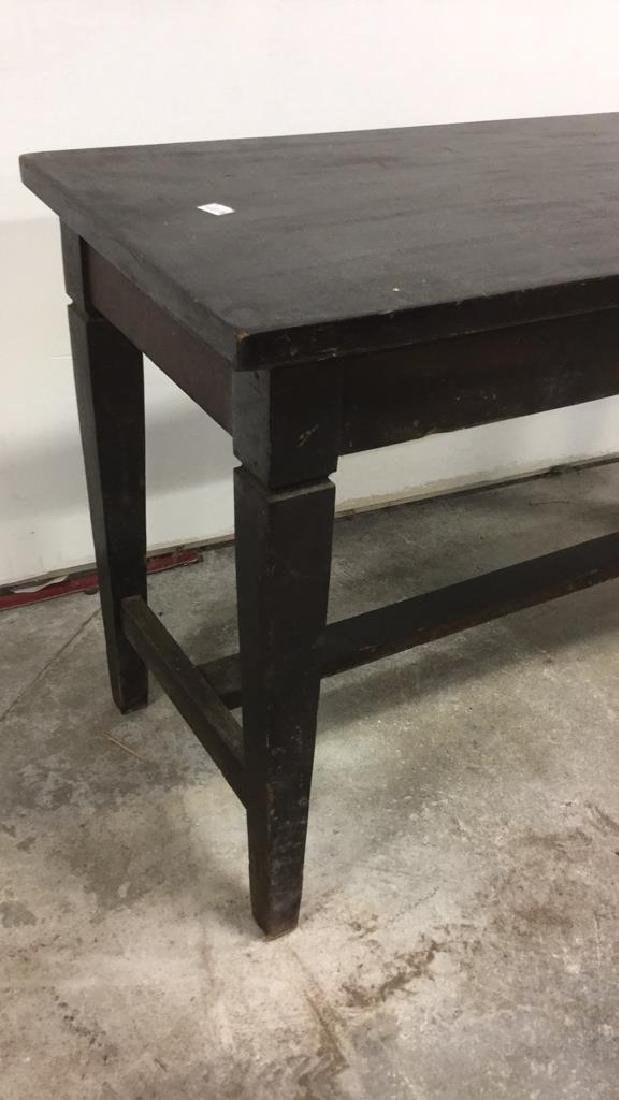 Vintage Dark Toned Wood Piano Bench - 4