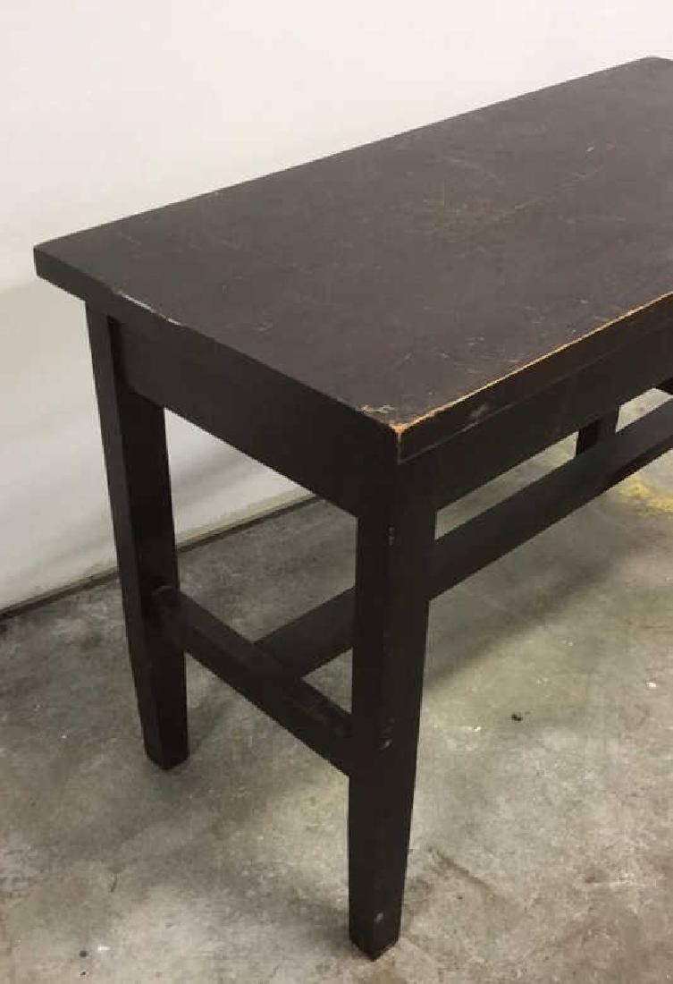 Vintage Dark Wood Toned Piano Bench - 5
