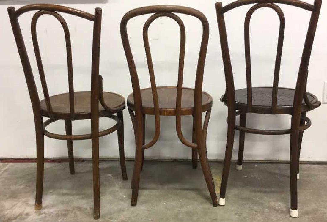 Lot 3 Vintage Antique Bentwood Chairs