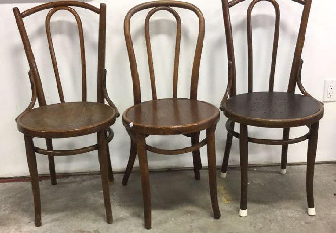 Lot 3 Vintage Antique Bentwood Chairs - 2
