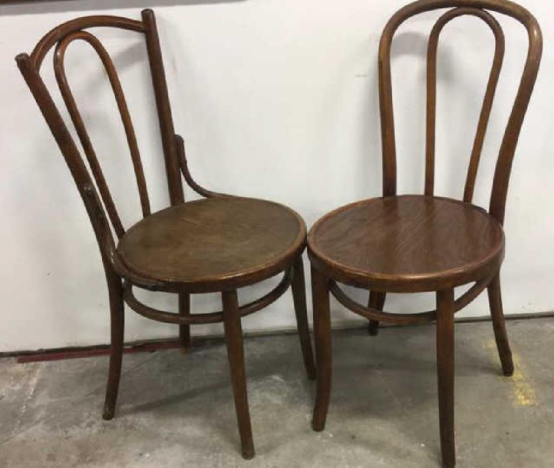Lot 3 Vintage Antique Bentwood Chairs - 3