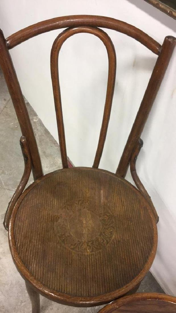 Lot 3 Vintage Antique Bentwood Chairs - 4
