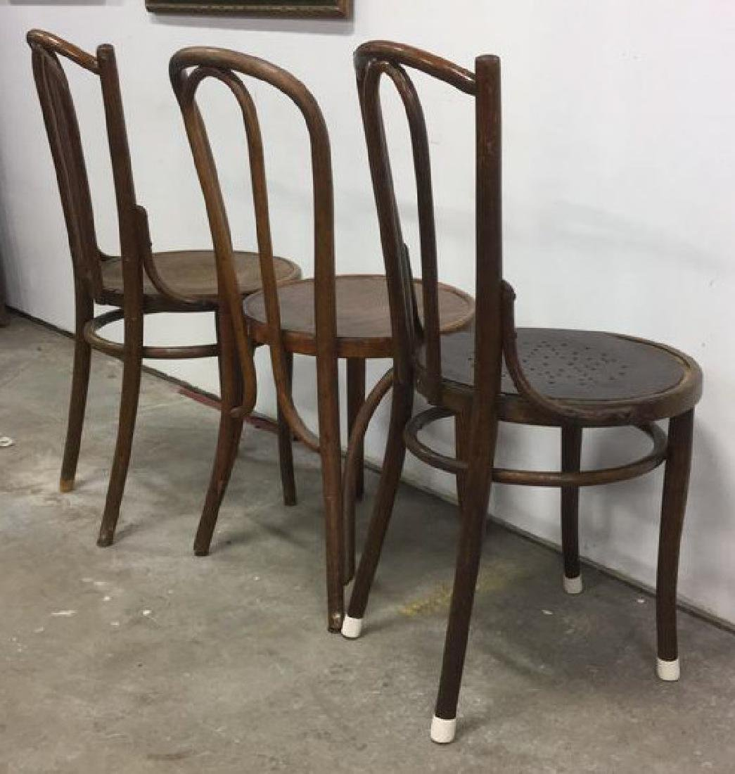 Lot 3 Vintage Antique Bentwood Chairs - 8