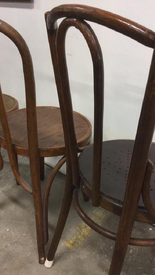 Lot 3 Vintage Antique Bentwood Chairs - 9