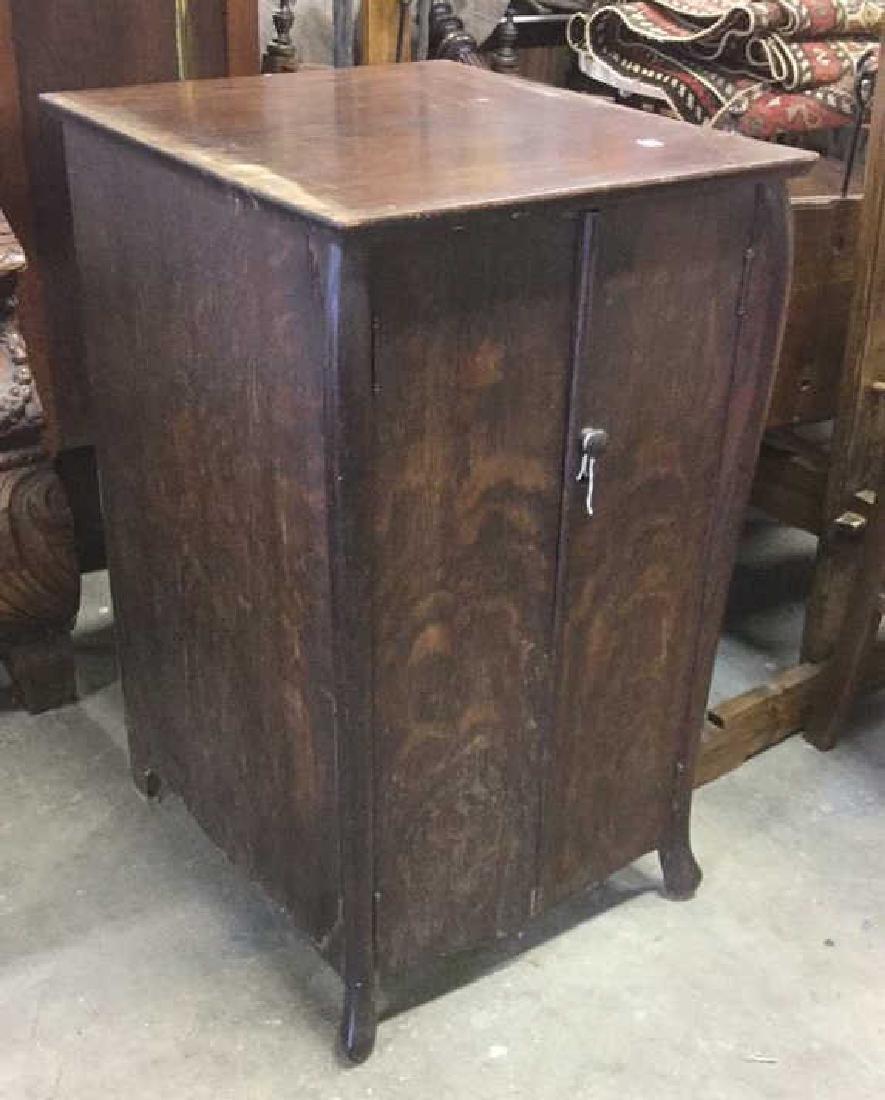 Vintage Mission Style Oak Music Cabinet
