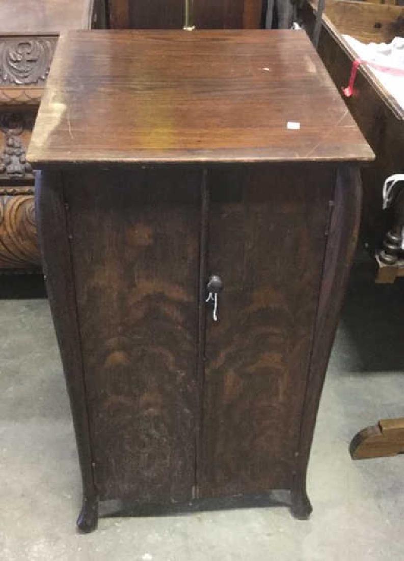 Vintage Mission Style Oak Music Cabinet - 3