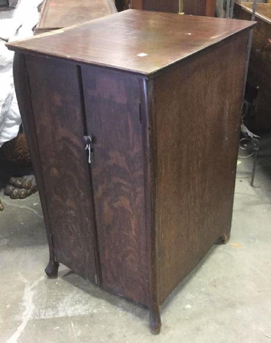 Vintage Mission Style Oak Music Cabinet - 4