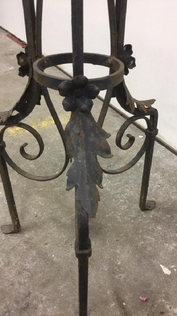 Curled Iron Tall Plant Stand Vintage - 2
